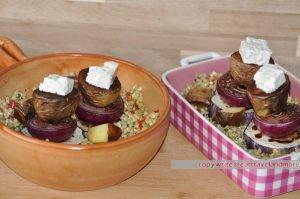 Gemüse Bäumchen auf BIO Buchweizen mit Schafkäse