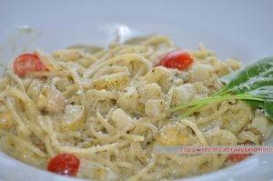 Spaghetti mit Spargel und Zitronen Sahne Sauce